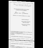 Betere Teksten overlijden na een ziekbed voor op de rouwkaart TY-01