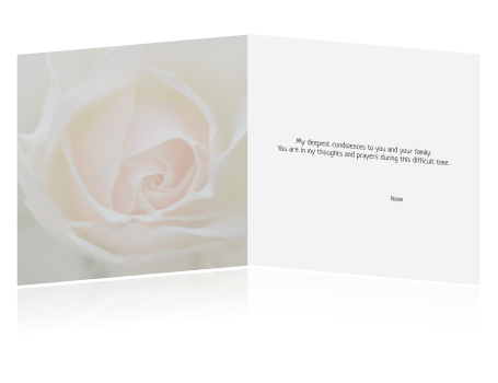 Condolences card in English.  Rouwkaart in het Engels.  (541)