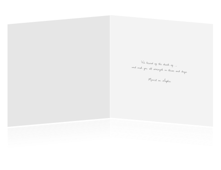 Our sincere condolences card.