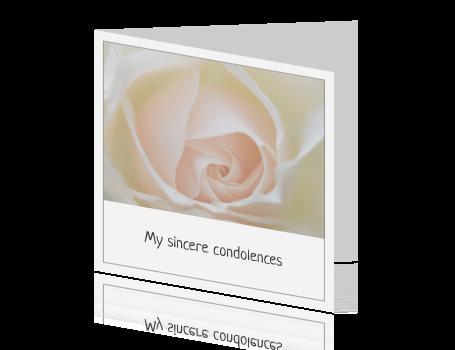 engelstalige rouwkaart om iemand te condoleren